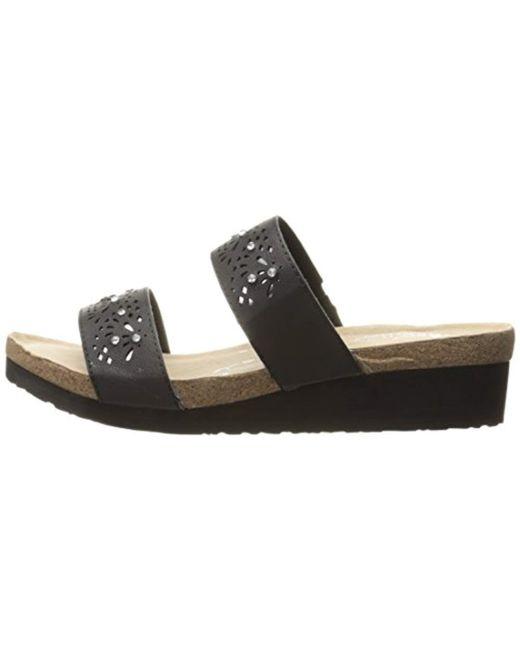 6abf2b434702 ... Skechers - Black Troos Skitter Wedge Sandal - Lyst ...