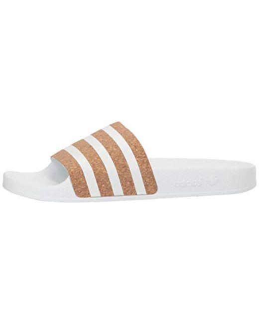 397c69b4c ... Adidas Originals - White Adidas Performance Adilette Slides for Men -  Lyst ...
