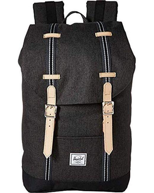 5f6b7063a38 Herschel Supply Co. - Black Retreat Mid-volume Backpack for Men - Lyst ...