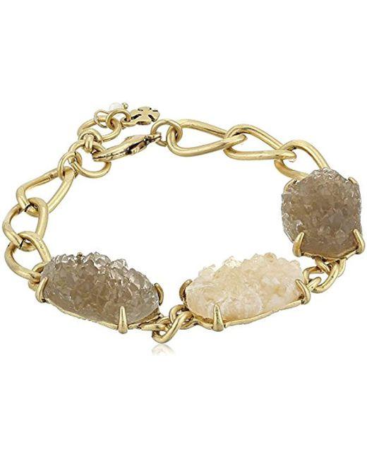 Lucky Brand - Metallic S Druzy Link Bracelet - Lyst