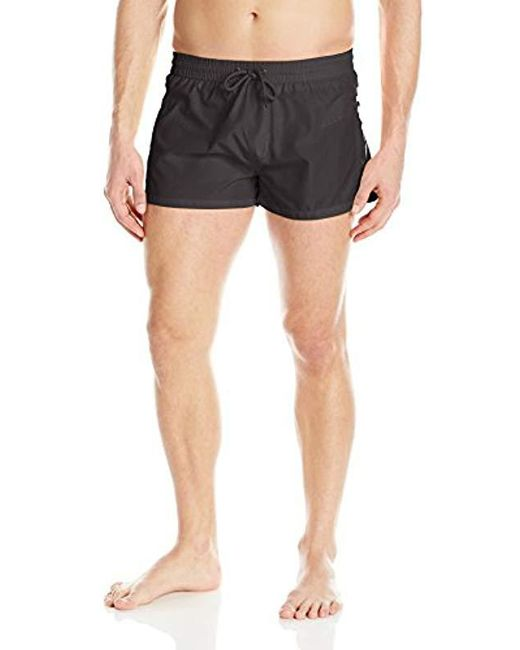 DIESEL - Black Sandy Packable Short 12inch Swim Trunk for Men - Lyst