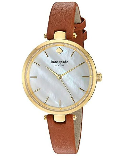 226926112c9 Lyst - Kate Spade Kate Spade Watches Holland Watch in Brown - Save 30%