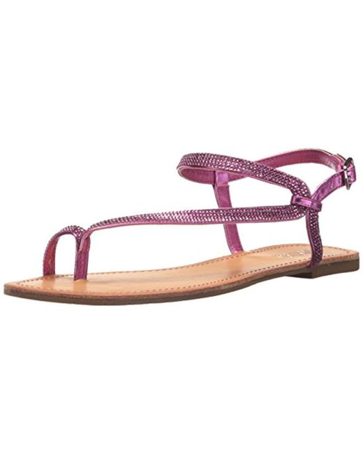 cba4e3cf8a0 Kenneth Cole Reaction - Multicolor Just Braid Flat Sandal With Toe Ring And  Ankle Straps ...