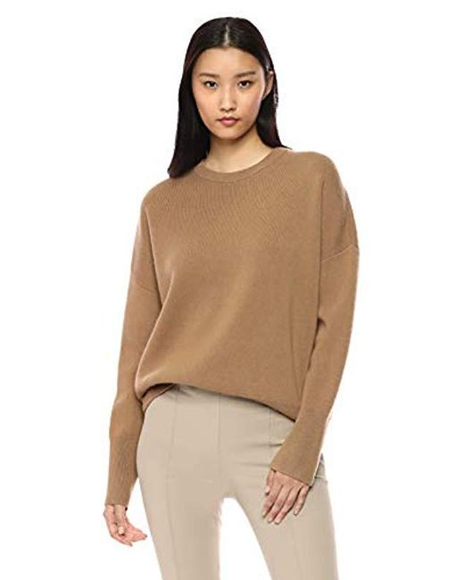 Theory - Natural Relaxed Drop Shoulder Crewneck Sweater - Lyst