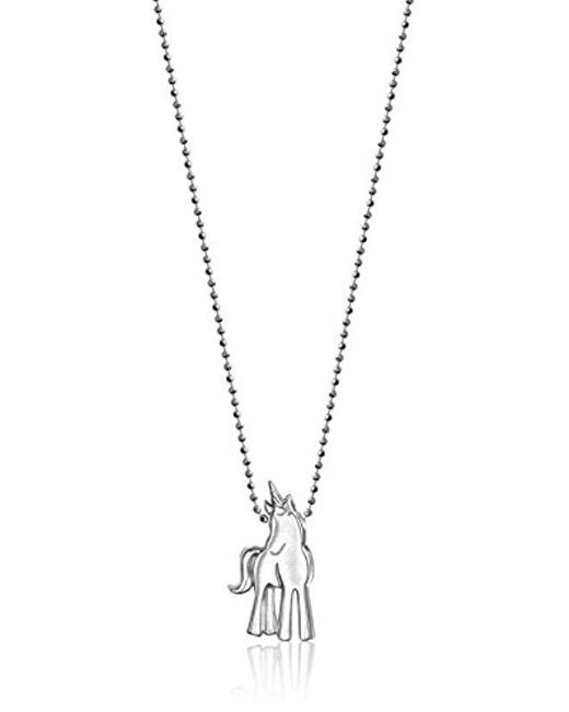 "Alex Woo - Metallic ""little Princess"" Unicorn Pendant Necklace - Lyst"