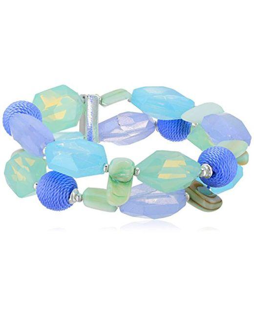 Napier - Multicolor Multi Tone Bead Stretch Bracelet - Lyst