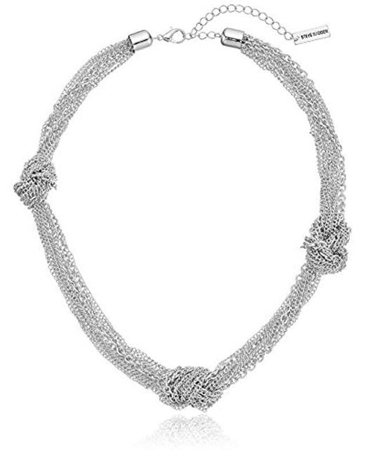 Steve Madden - Metallic Gold Knotted Chain Necklace - Lyst