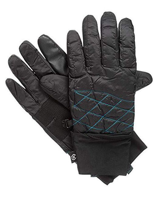 Isotoner - Black Packable Cuff Gloves With Smartouch Technology - Lyst