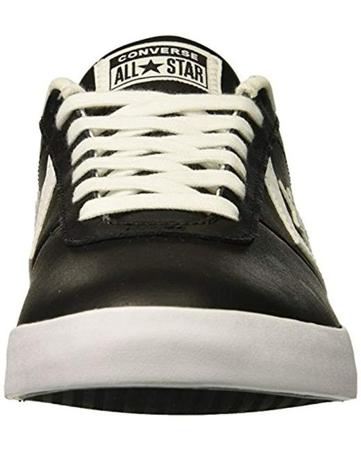 660714a17b23ba ... Converse - Black Point Star Leather Low Top Sneaker for Men - Lyst ...