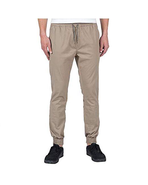 Volcom - Natural Frickin Slim Jogger Pant for Men - Lyst