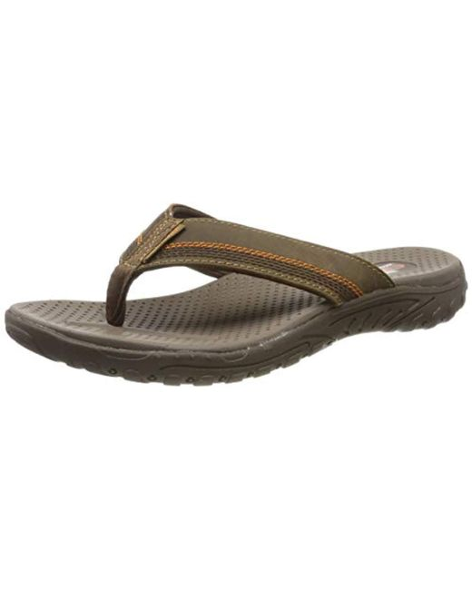 Men's Brown Relaxed Fit Reggae Cobano Flip flop