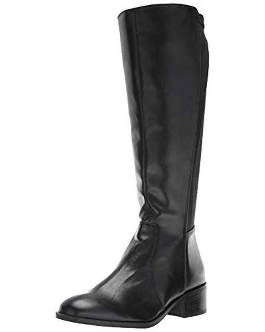 Kenneth Cole Reaction Salt Knee High Flat Riding Boot, Black, 6 M Us