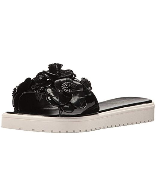 9b5eac63c397 Lyst - Nine West Relly Synthetic Jelly Sandal in Black - Save 13%