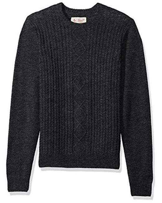 Original Penguin - Gray Fisherman's Cable Crew Sweater for Men - Lyst