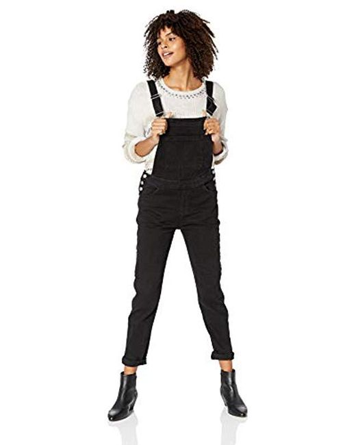 4582e16a1bb Roxy - Black Magical Thinking Overalls - Lyst ...