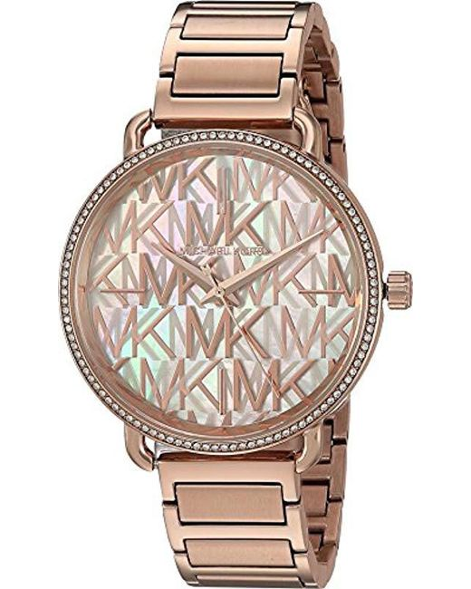 b3a8946e138c Michael Kors - Multicolor Watches S Portia Rose Gold-tone Watch - Lyst