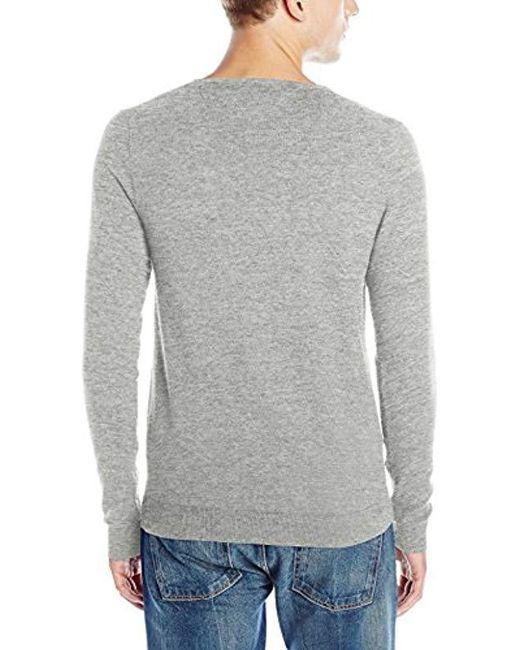 10c4f419 ... Tommy Hilfiger - Gray Denim Original V-neck Long-sleeve Sweater for Men  -