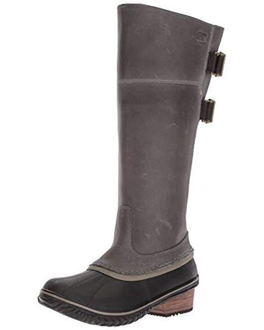 Sorel - Gray Slimpack Riding Tall Boot - Lyst