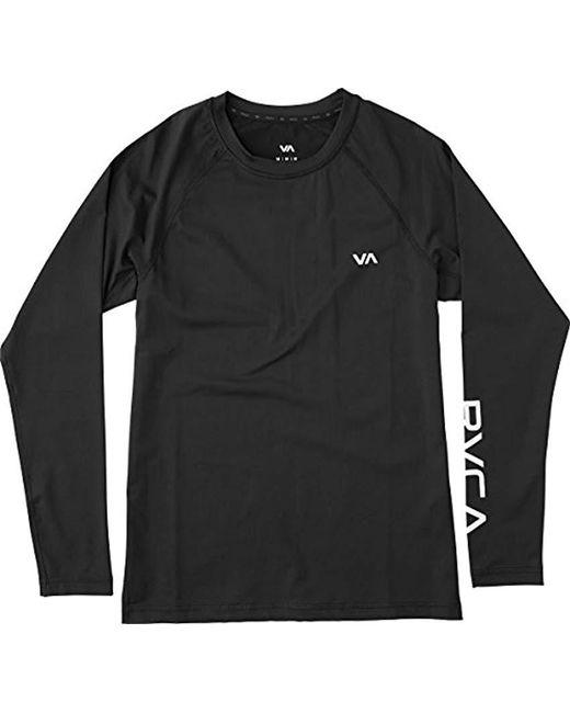 RVCA - Black Va Sport Comp Long Sleeve Shirt for Men - Lyst