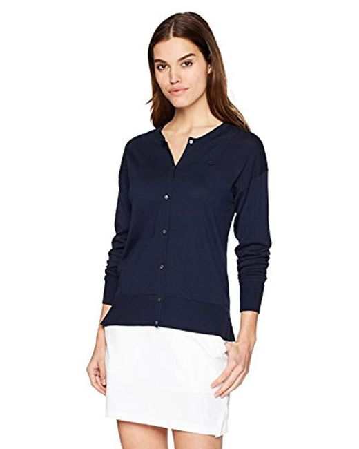 Lacoste - Blue Classic Jersey Cardigan, Af5041 - Lyst
