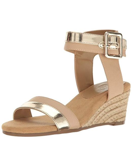 bcc54bb79a8 Aerosoles - Multicolor Spa Day Wedge Sandal - Lyst ...