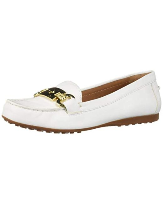 752830a608e Kate Spade - White Carson Driving Style Loafer - Lyst ...