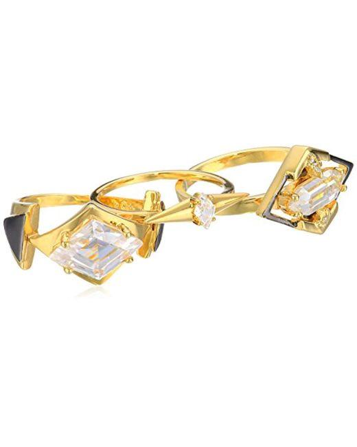 Noir Jewelry - Metallic Gilded Stackable Ring - Lyst