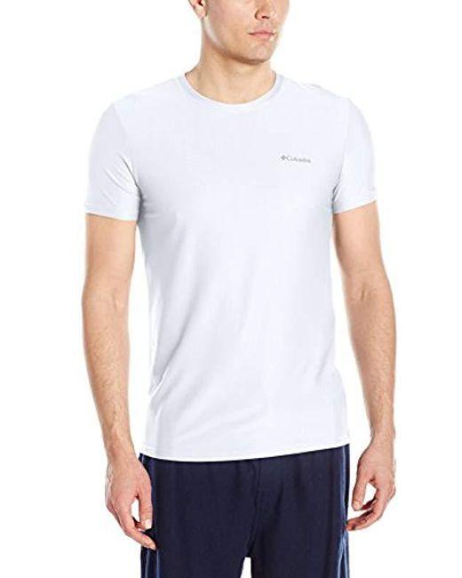 Columbia - White Diamond Mesh Crew Neck Tee Shirt for Men - Lyst