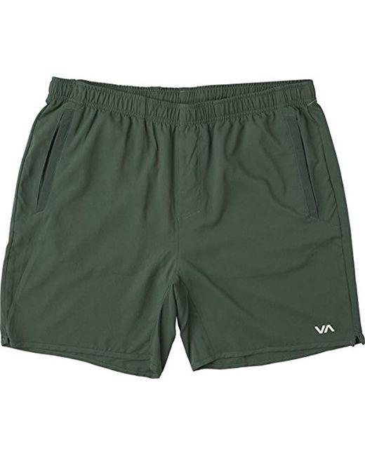 RVCA - Green Yogger Short for Men - Lyst