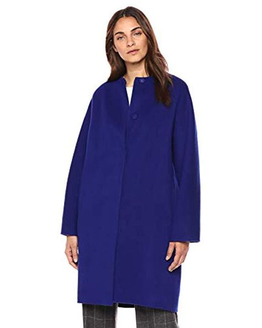 Theory - Blue Rounded Coat, - Lyst