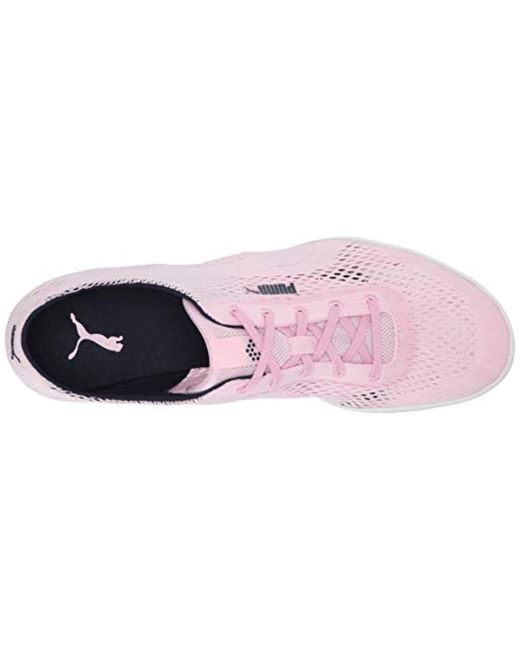 skate shoes wide selection of colours and designs fashion Women's Pink Monolite Cat Woven Golf Shoe