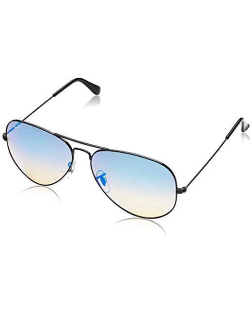0352d02af73 Ray-Ban - Multicolor 3025 Aviator Large Metal Mirrored Non-polarized  Sunglasses - Lyst ...