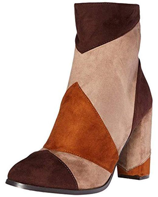 N.y.l.a. - Brown Olygpatch Boot - Lyst
