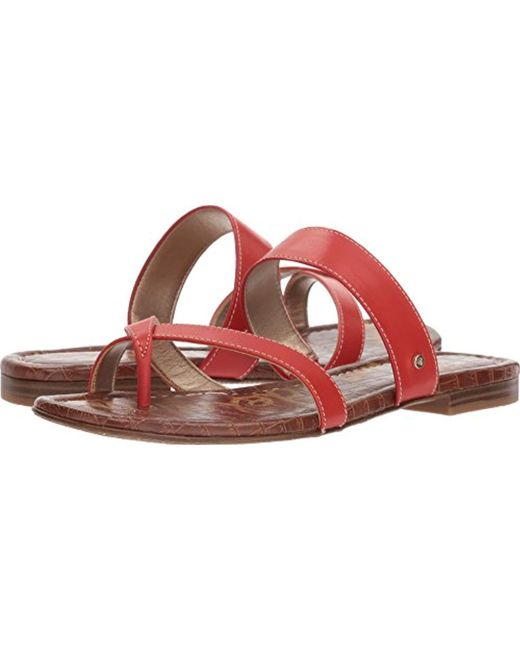 af483fbb05f Lyst - Sam Edelman Bernice Slide Sandal in Red - Save 16%