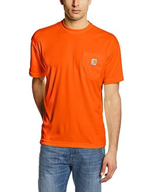 5473b4082 Carhartt - Orange High Visibility Force Color Enhanced Short Sleeve Tee for  Men - Lyst ...