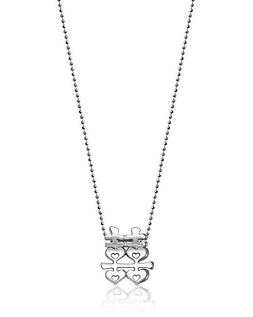 """Alex Woo - Metallic Little Faith Sterling Silver Chinese Double Happiness Pendant Necklace, 16"""" - Lyst"""