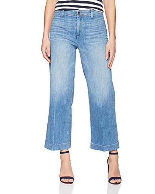 PAIGE - Blue Nellie Ankle Clean Front Jeans - Lyst