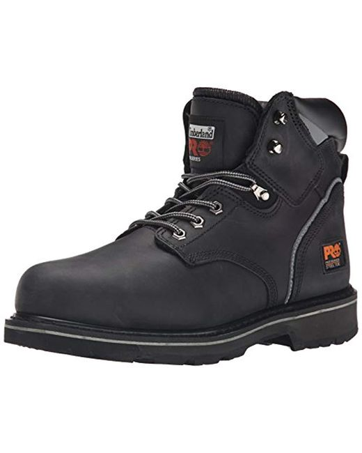 Timberland - 6 Pit Boss Steel Toe (black Oiled Full-grain Leather) Men's Work Lace-up Boots for Men - Lyst