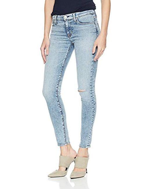 Hudson - Blue Nico Midrise Ankle Super Skinny 5 Pocket Jean - Lyst