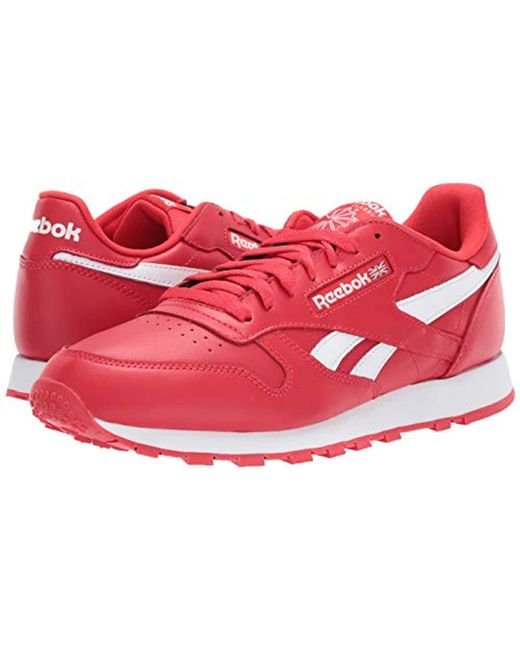 d0f34c5479dc ... Reebok - Red Classic Leather Sneaker for Men - Lyst ...
