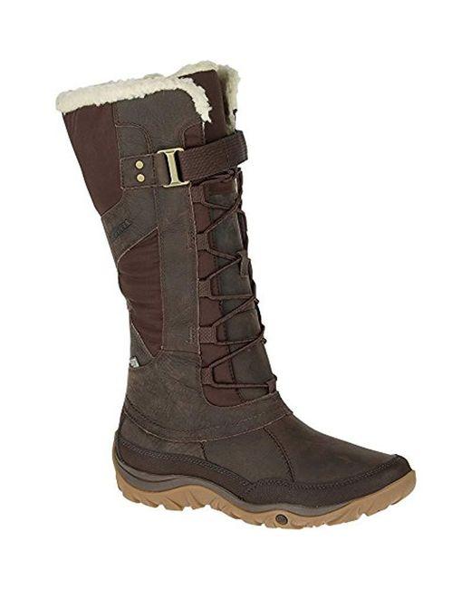 Merrell Brown Murren Tall Waterproof-w Snow Boot