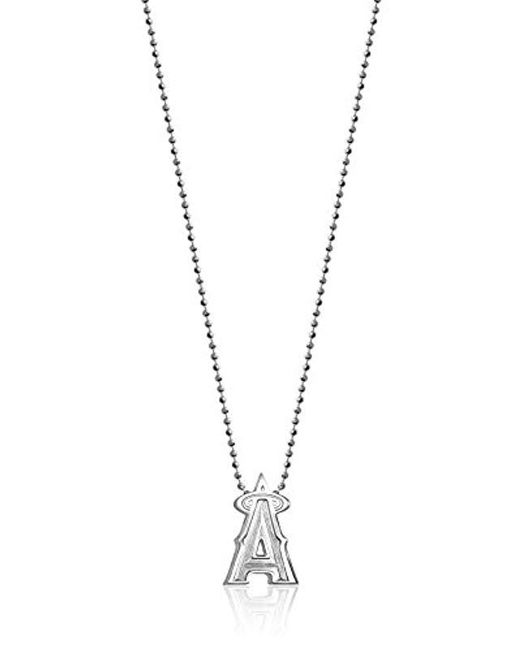 "Alex Woo - Metallic Little Mlb Sterling Silver Los Angeles Angels Pendant Necklace, 16"" - Lyst"