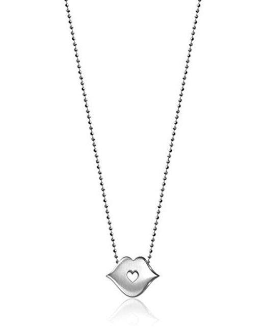 "Alex Woo - Metallic ""little Princess Sterling Silver Kiss Pendant Necklace, 16"" - Lyst"