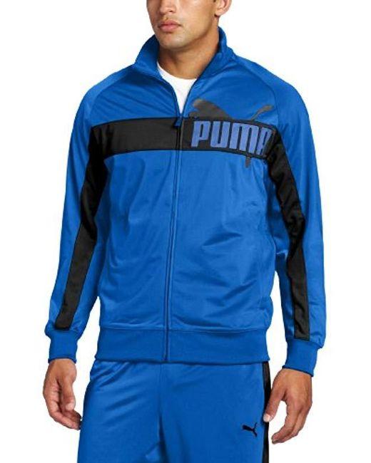 39c340a15ac2 PUMA - Blue Tricot Jacket for Men - Lyst ...