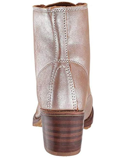 f9436e0bcc9e Lyst - Frye Sabrina 6g Lace-up Boot in Brown - Save 47%
