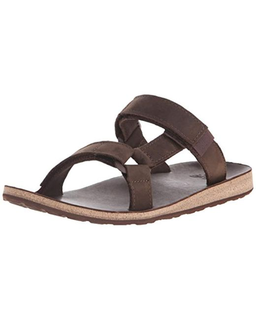 6c7017ca08a Teva - Brown Original Universal Slide Leather Sports And Outdoor Lifestyle  Sandal for Men - Lyst ...