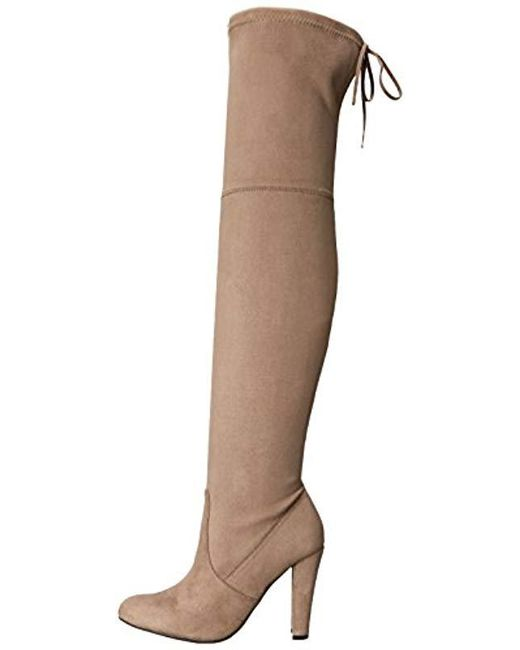 4735eec8785 Lyst - Steve Madden Gorgeous Boot in Brown - Save 32.32323232323232%