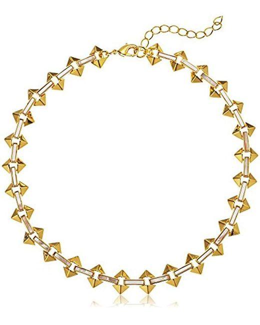 Noir Jewelry - Metallic Milky Moon Choker Necklace - Lyst