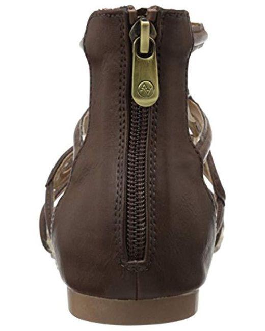 1cae45917cdb ... Adrienne Vittadini - Brown Footwear Pablic Gladiator Sandal - Lyst ...