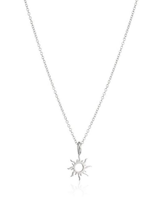 40cc8a6e7c7f8b Dogeared Good Vibes Only Sun Pendant Necklace, 16